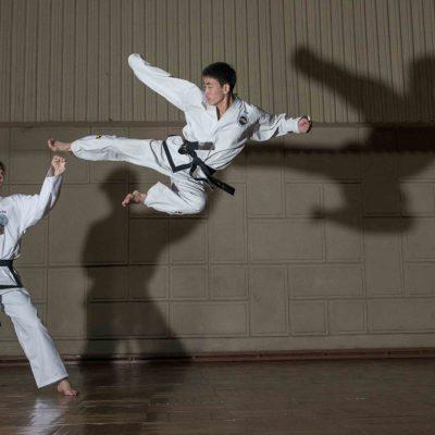 #109. PAK MI HYANG, 20, 1st Dan + RA KYONG HUN, 22, 2nd Dan, Taekwondo Stadium copy