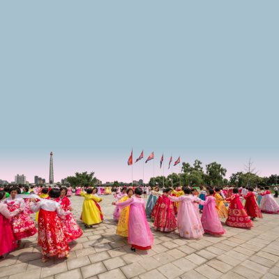 A mass dance in Kim Il Sung Square