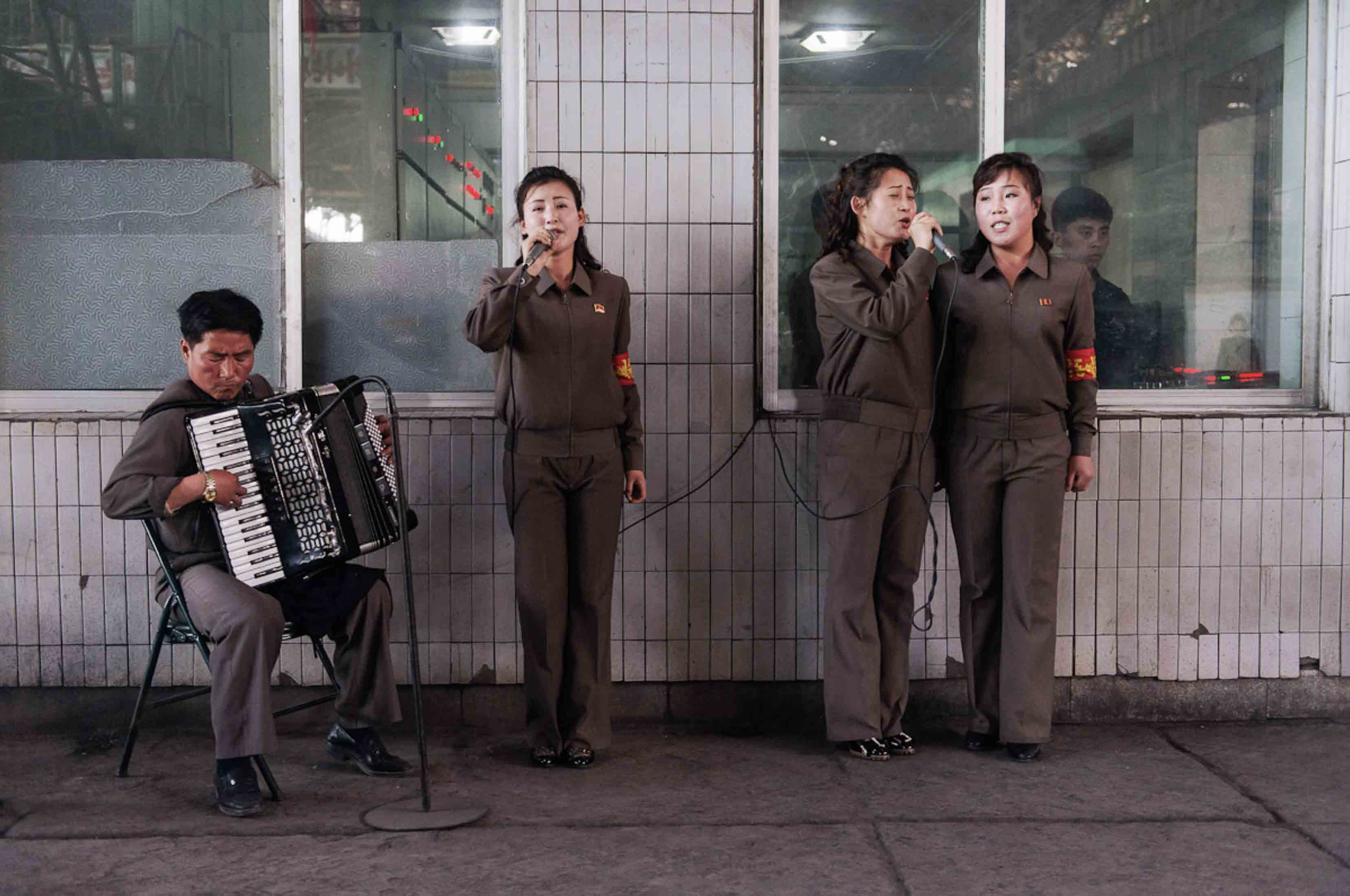 #62. Accordionist + Singers, Chollima Steelworks