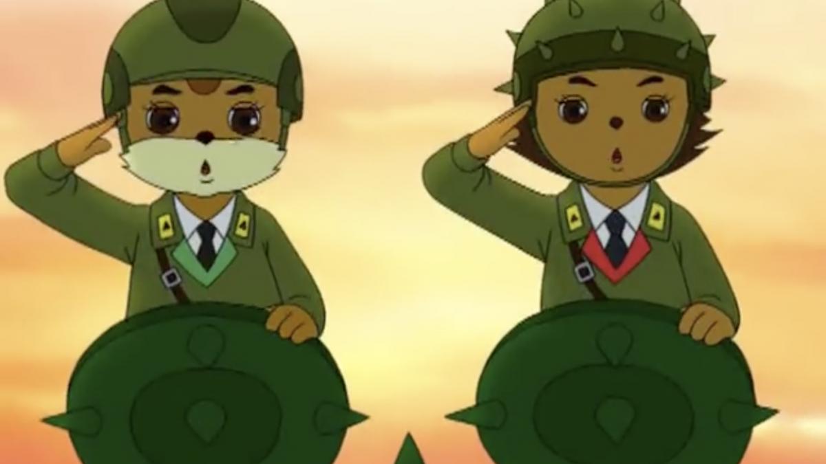 Squirrel and Hedgehog, North Korean Animation